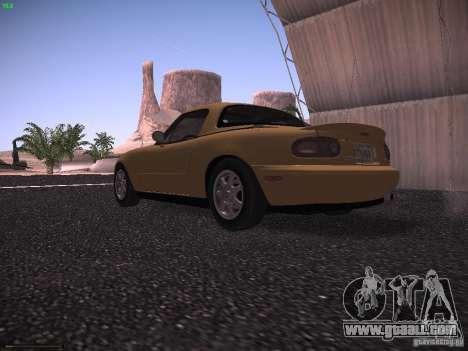 Mazda MX-5 1997 for GTA San Andreas back left view