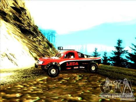 Toyota Tundra Rally for GTA San Andreas back left view
