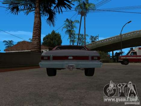 Ford Gran Torino 1976 for GTA San Andreas back left view