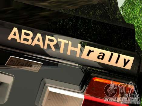 Fiat 131 Abarth Rally for GTA San Andreas back left view