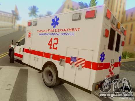 Ford F350 Super Duty Chicago Fire Department EMS for GTA San Andreas back left view