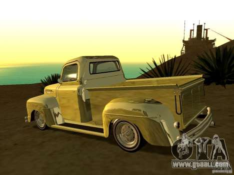 Ford Pick Up Custom 1951 LowRider for GTA San Andreas left view