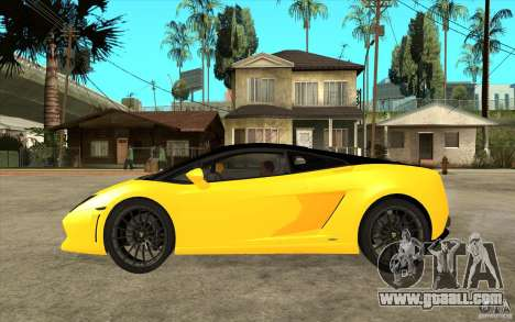 Lamborghini Gallardo LP560 Bicolore for GTA San Andreas left view