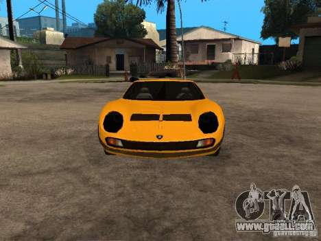 Lamborghini Miura for GTA San Andreas back view
