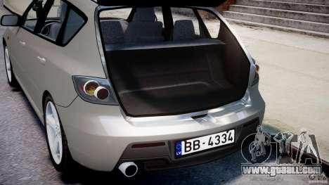 Mazda 3 2004 for GTA 4 bottom view