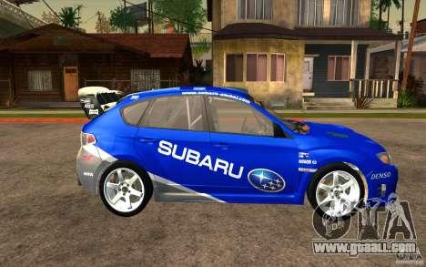 New vinyls to Subaru Impreza WRX STi for GTA San Andreas back view