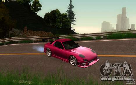 Mazda Rx7 C-West for GTA San Andreas back view