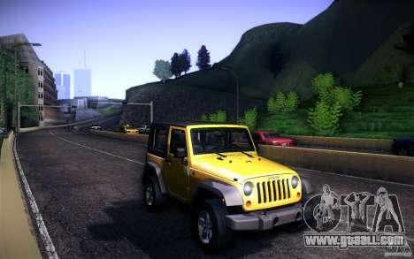 Jeep Wrangler Rubicon 2012 for GTA San Andreas inner view