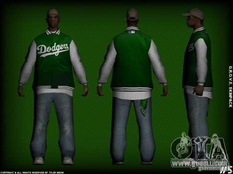 G.R.O.V.E. Skinpack for GTA San Andreas sixth screenshot