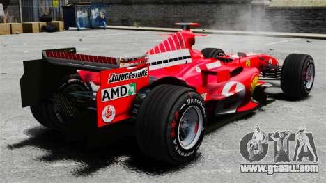 Ferrari F2005 for GTA 4 back left view
