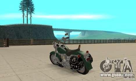 Harley Davidson FLSTF (Fat Boy) v2.0 Skin 1 for GTA San Andreas back left view
