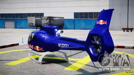 Eurocopter EC130 B4 Red Bull for GTA 4 back left view