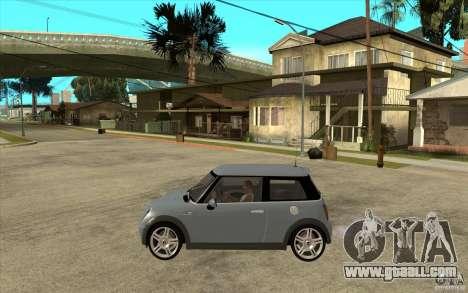 Mini Cooper - Stock for GTA San Andreas left view