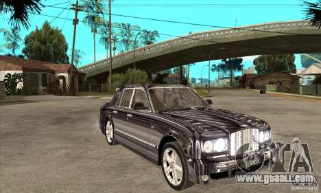 Bentley Arnage T for GTA San Andreas inner view