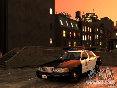 Ford Crown Victoria LAPD v1.1 [ELS] for GTA 4 back view