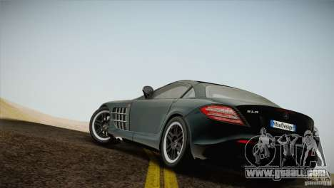 Mercedes SLR McLaren 722 Edition Final for GTA San Andreas left view