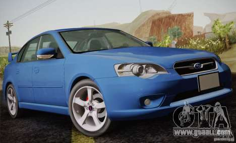 Subaru Legacy 2004 v1.0 for GTA San Andreas side view