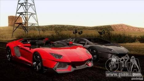 Lamborghini Aventador LP-700 J for GTA San Andreas interior