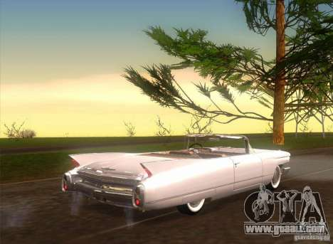 Cadillac Series 62 1960 for GTA San Andreas back left view