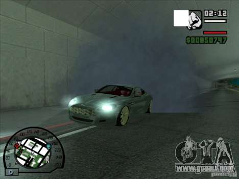 Smoke coming from under the wheels, as in NFS Pr for GTA San Andreas second screenshot