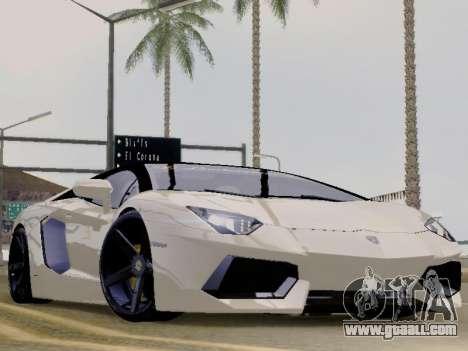 Lamborghini Aventador LP700-4 Vossen for GTA San Andreas
