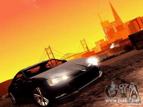 Subaru BRZ for GTA San Andreas back left view