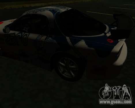 Mazda RX7 for GTA San Andreas back view