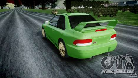 Subaru Impreza 22b 1998 (final) for GTA 4 back left view
