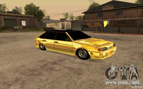 ВАЗ 2114 GOLD for GTA San Andreas left view