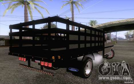 Ford F-350 Plataforma for GTA San Andreas back left view