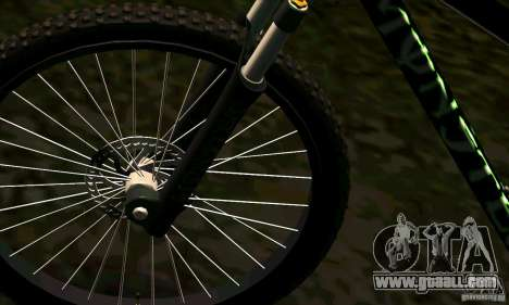 Bike with Monster Energy for GTA San Andreas right view