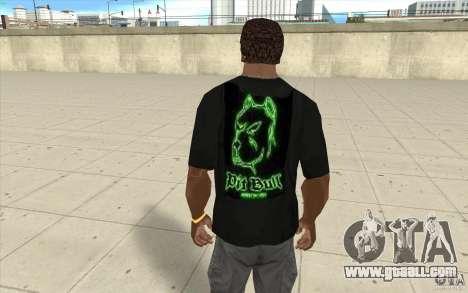 Pit bill t-shirt for GTA San Andreas second screenshot