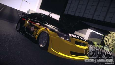 Scion TC Rockstar Team Drift for GTA San Andreas back left view