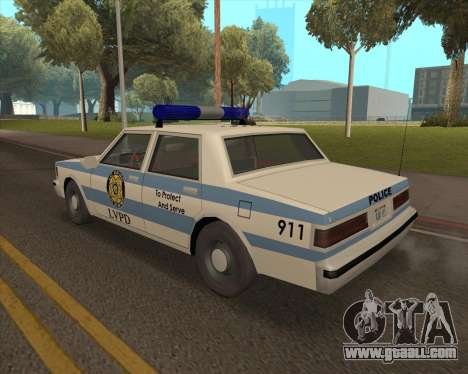 Updated LVPD for GTA San Andreas left view