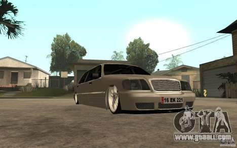 Mercedes-Benz S600 V12 W140 1998 VIP for GTA San Andreas back view