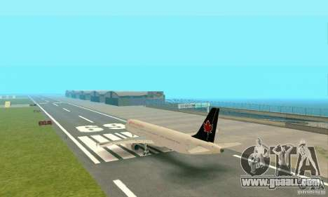 Airbus A321 Air Canada for GTA San Andreas right view