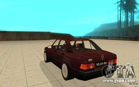 Mercedes-Benz 190 E (W201) 1984 version 1.0 for GTA San Andreas back left view