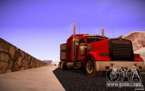 Kenworth W 900L for GTA San Andreas back left view