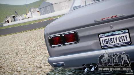 Nissan Skyline 2000 GT-R for GTA 4 side view