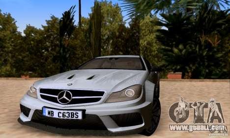Mercedes-Benz C63 AMG for GTA San Andreas engine
