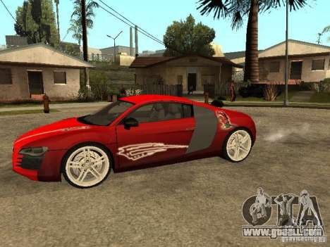 Audi R8 for GTA San Andreas upper view