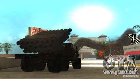 Ural 4320 Grad v2 for GTA San Andreas right view