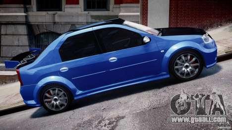 Dacia Logan 2008 [Tuned] for GTA 4 side view