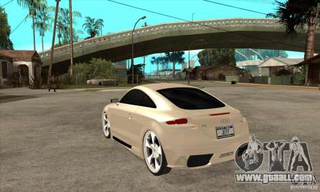 Audi TT Quattro 2007 for GTA San Andreas back left view
