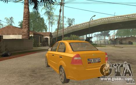 Chevrolet Aveo 2007 final for GTA San Andreas back left view
