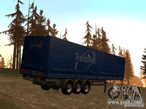 Semi-trailer for GTA San Andreas back left view