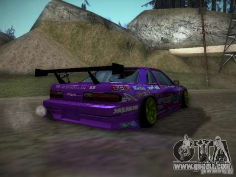 Nissan Silvia S13 Team Burst for GTA San Andreas back left view