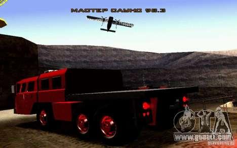Maz-7310 Civil Narrow Version for GTA San Andreas side view