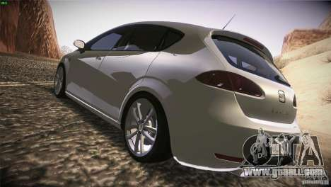 Seat Leon Cupra for GTA San Andreas right view
