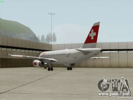 Airbus A319-112 Swiss International Air Lines for GTA San Andreas side view